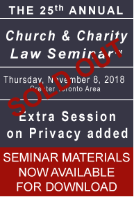 Carter 25th Church & Charity Law Seminar -Seminar Material