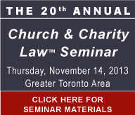 20th Annual Church & Charity Law Seminar